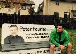Peter Fourlas Bus Bench